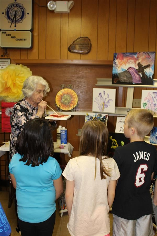 Elementary Students Attend Art Show